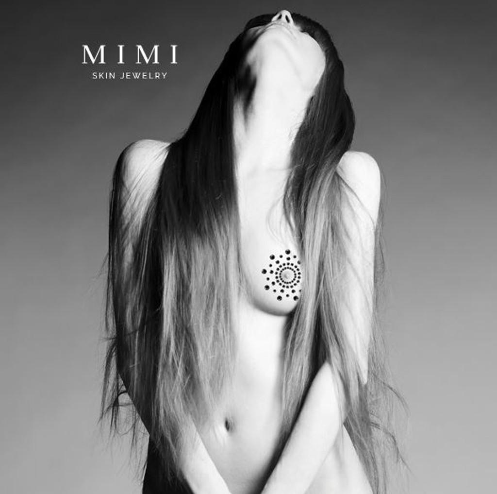 Bijoux Indiscrets Mimi Rhinestone Pasties  - Black