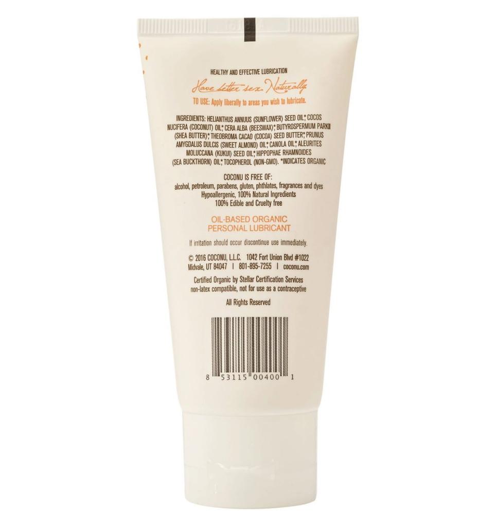 Coconu Oil-Based Organic Personal Lubricant 3 oz