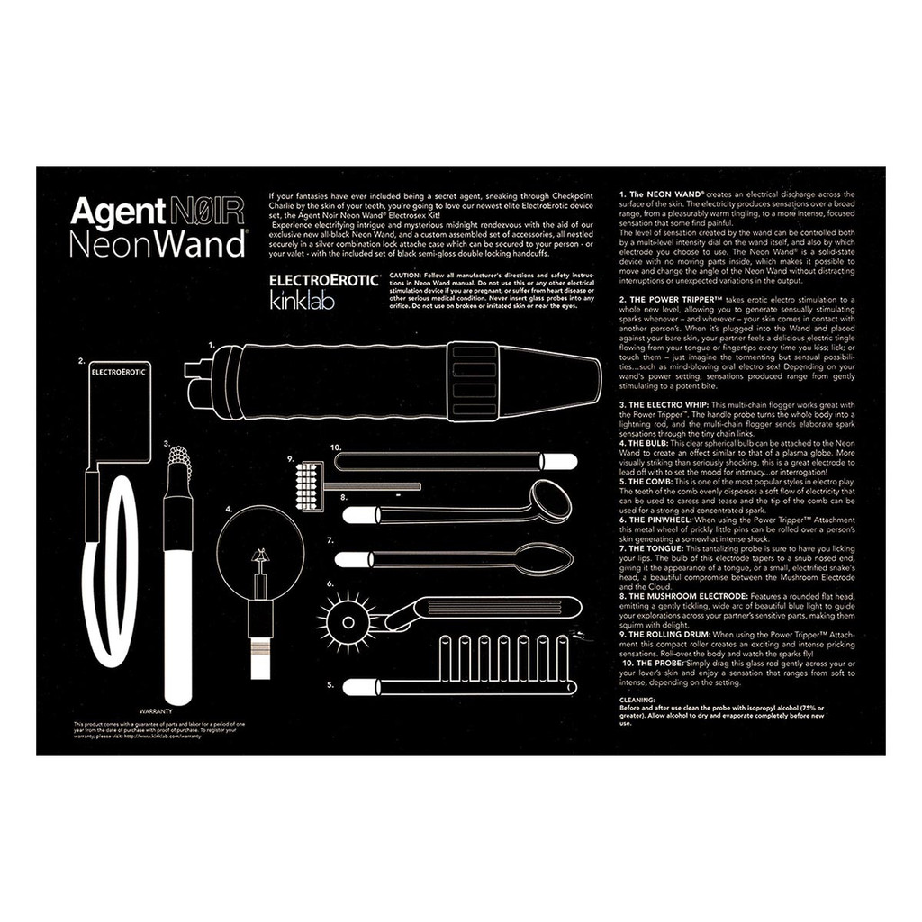 Agent Noir Neon Wand Briefcase Kit