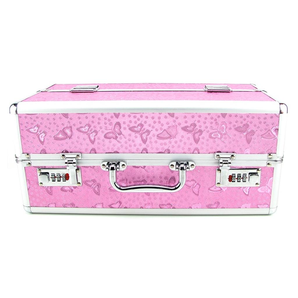 BMS Enterprises Lockable Vibrator Case - Large, Pink