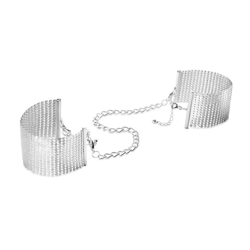 Bijoux Desir Metallique Mesh Silver Handcuffs
