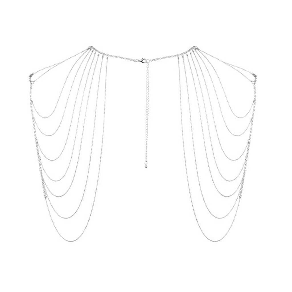 Magnifique Collection Silver Chain Shoulder Jewelry