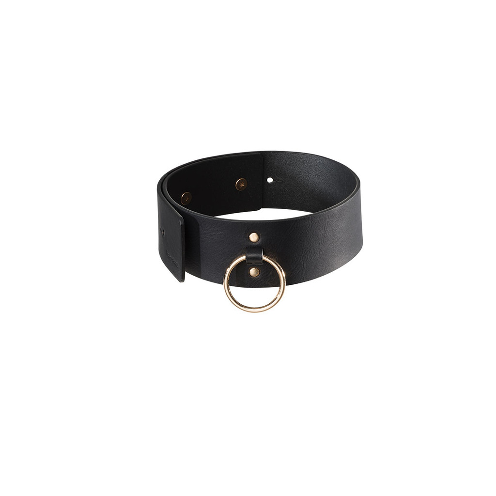 Maze Vegan Leather Choker With Leash