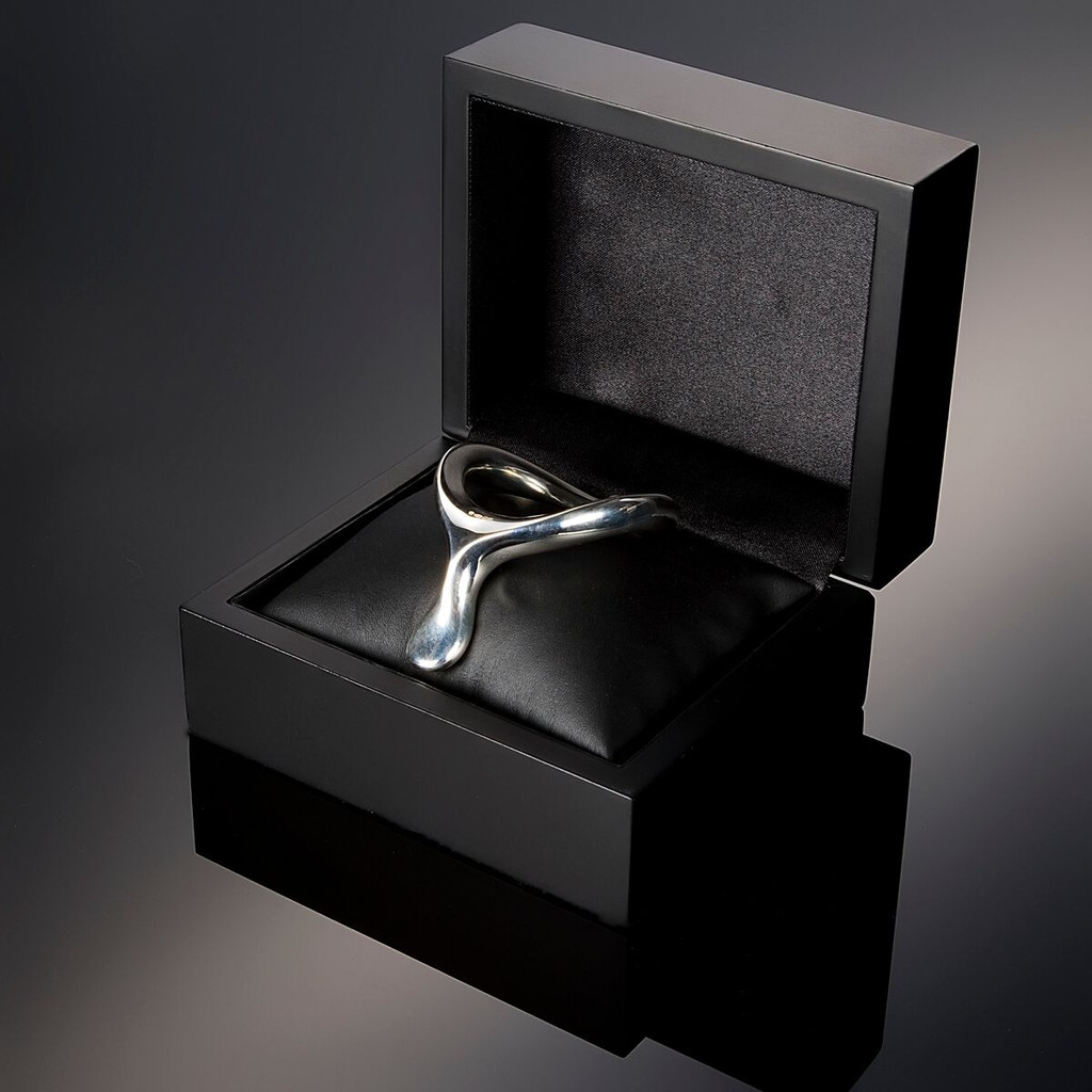 VelvOr JCobra Solid Silver Cock Ring - The Velvet Edition