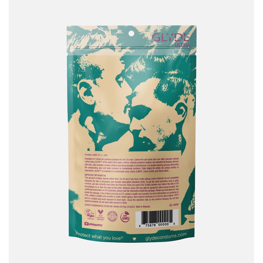 Glyde Ultra Vegan Condoms - Standard Fit - 12 Pack