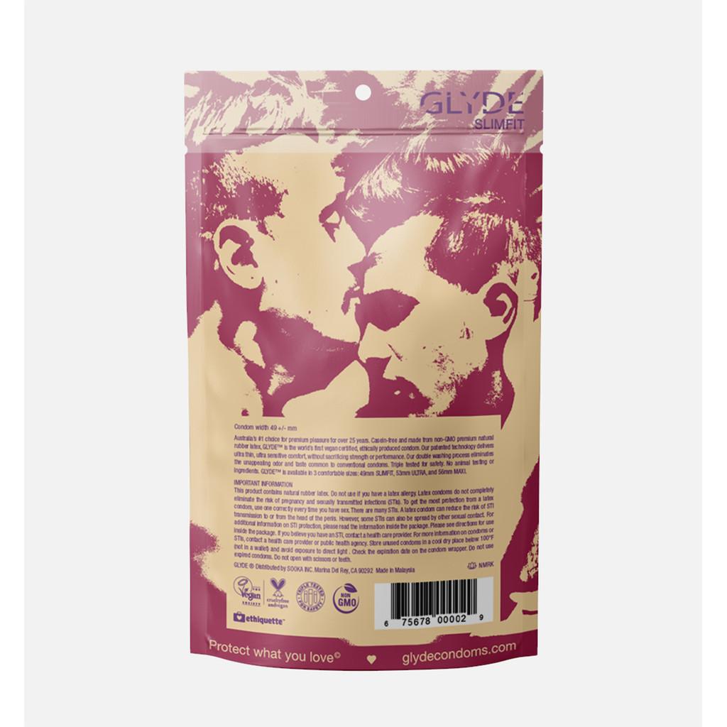 Glyde Vegan Condoms - Slimfit - 12 Pack