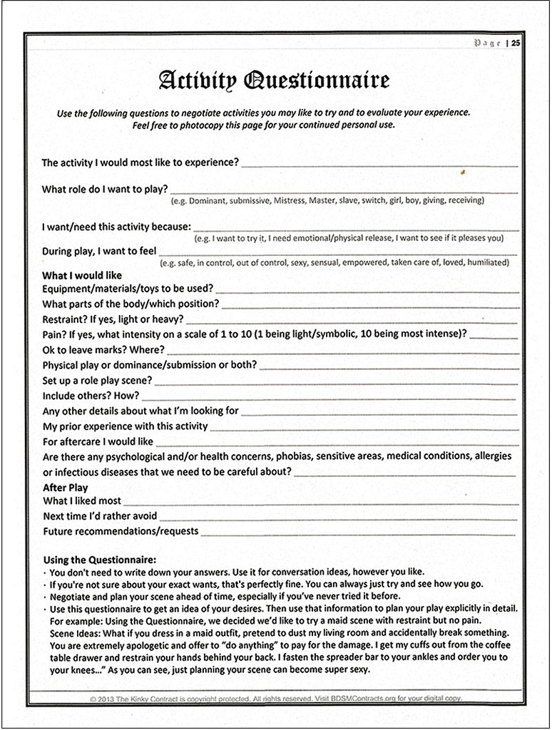 Kinky Contract