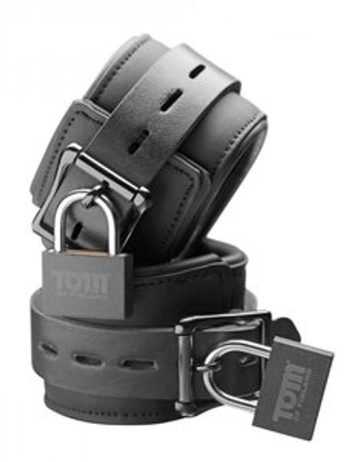 Tom of Finland Neoprene Wrist Cuffs W/LOCKS