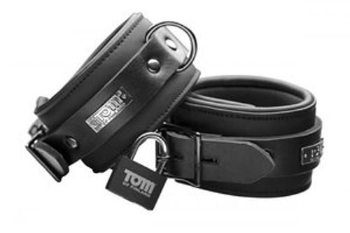 Tom of Finland Neoprene Ankle Cuffs W/LOCKS