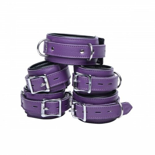 Leather Locking Bondage Set