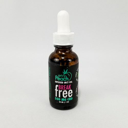 Privy Peach CBD Break Free Oil tincture 500mg
