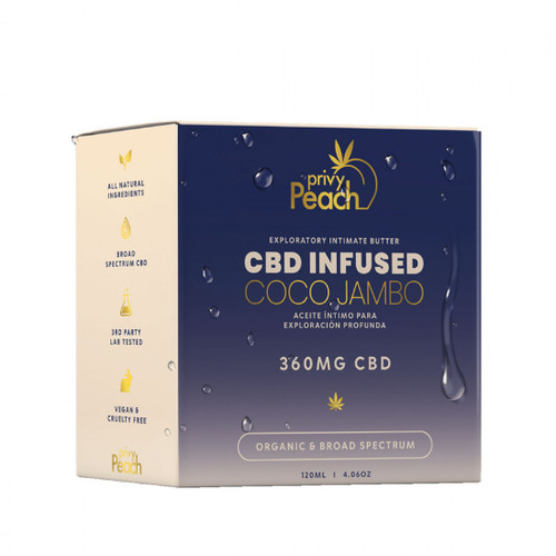 Privy Peach CBD Coco Jambo Intimate Butter 360mg