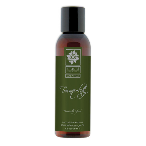 Sliquid Organics Sensual Massage Oil Tranquility - 4.2oz