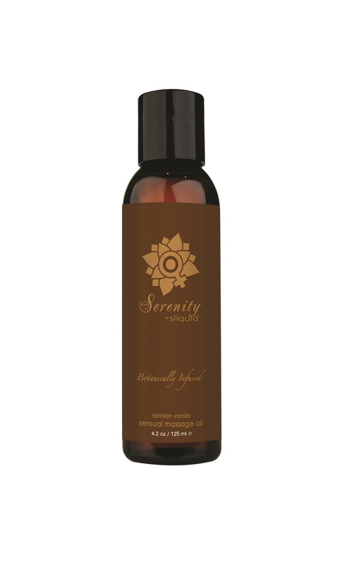 Sliquid Organics Sensual Massage Oil Serenity - 4.2oz