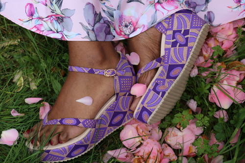 Purple Passion Wedge Sandals