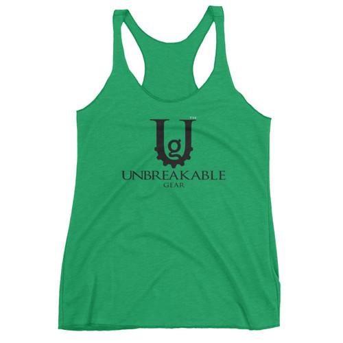 UG Classic Logo Women's Blk Font Racerback Tank