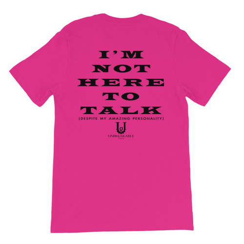 Not Here To Talk Short-Sleeve Men's/Unisex T-Shirt