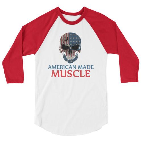 American Made 3/4 sleeve raglan shirt