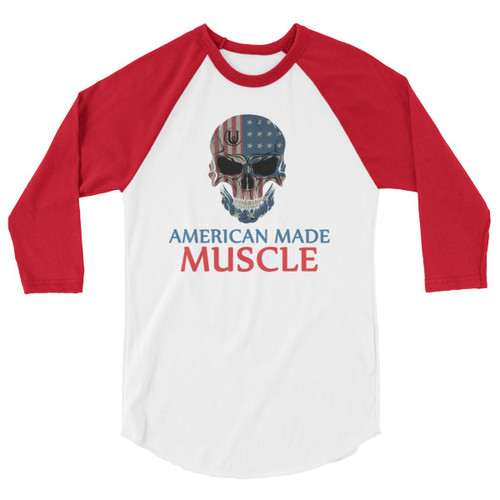 American Made 3/4 sleeve raglan shirt
