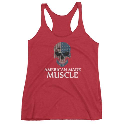 American Made  Muscle Women's Racerback Tank