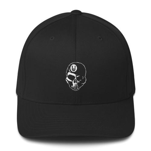 Structured Flex Fit Unbreakable Skull Logo Twill Cap