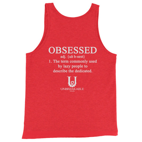Obsessed White Font Unisex  Tank Top