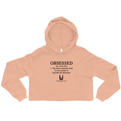 Obsessed Crop Hoodie