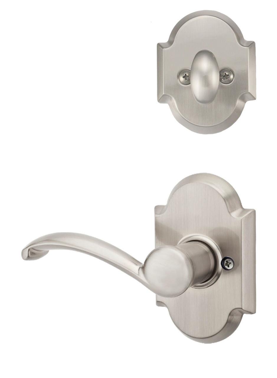 Kwikset Austin Single Cylinder Satin Nickel Handleset with Austin Lever