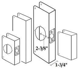 """2-3/8"""" Backset/ 1-3/4"""" Door Thickness"""