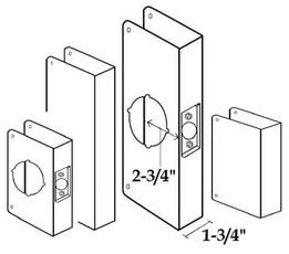 """2-3/4"""" Backset/ 1-3/4"""" Door Thickness"""