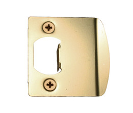 Pro-Lok Strike Plate Double Lip w// 5-1//2 Center Brass Finish