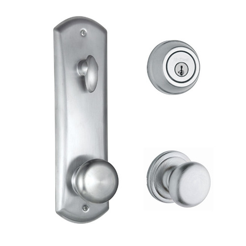 Kwikset / Metal Interconnect / 780 Deadbolt Single Cylinder SmartKey with Hancock Passage Knob / Satin Chrome / 508H 26D SMT
