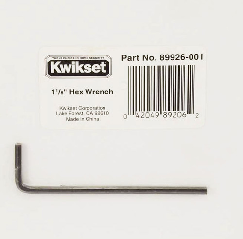 """Kwikset / 138 Installation Kit Replacement Part / 1/8"""" Hex Wrench / 89926-001"""
