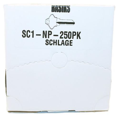Basiks / Key Blanks Boxed 250 / 5 - Pin / SC1-NP-250