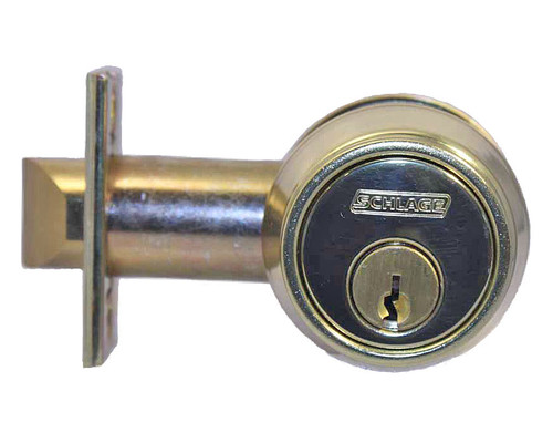 Schlage / B252 Gatelatch Deadbolt / Double Cylinder / Bright Brass / B252 PD 605