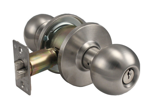 Cal-Royal / Barrington Knob / Keyed Double Cylinder Institution Lock / Stainless Steel / BA09-32D