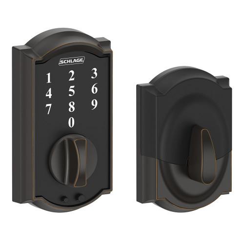 Schlage / Camelot Touch Keyless Entry Deadbolt / Touchscreen / Aged Bronze / BE375CAM 716