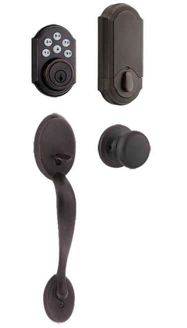 Kwikset / Chelsea 909TRL Keypad Handleset / Single Cylinder - SmartKey / Venetian Bronze / 909TRL 815CE 11P SMT
