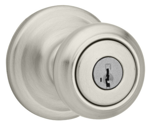Kwikset / Cameron Knob / Keyed Entry - SmartKey / Satin Nickel / 740CN 15 SMT