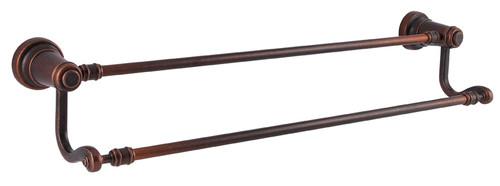 "Price Pfister-Kwikset  / Ashfield / 24"" Double Towel Bar / Rustic Bronze / 0795ADB 501"