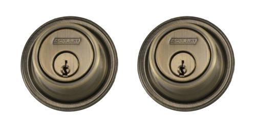 Schlage / B562 Deadbolt / Double Cylinder / Antique Brass / B562 609