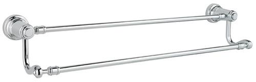 "Price Pfister-Kwikset / Ashfield / 24"" Double Towel Bar / Polished Chrome / 0795ADB 26"