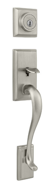 Kwikset / Hawthorne Handleset / Single Cylinder - SmartKey / Satin Nickel / 800HE 15 SMT