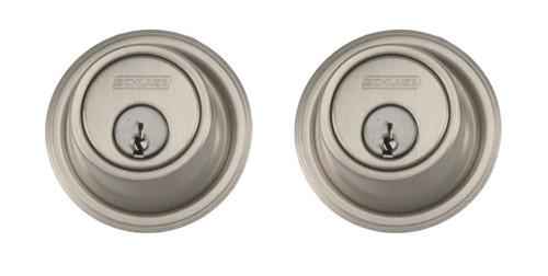 Schlage / B562 Deadbolt / Double Cylinder / Satin Nickel / B562 619