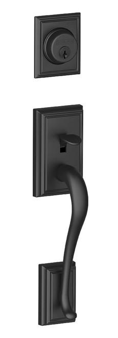 Schlage / Addison Handleset / Single Cylinder / Matte Black / F60ADD 622