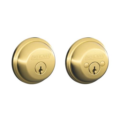 Schlage / B62 Deadbolt / Double Cylinder / Lifetime Bright Brass / B62 505