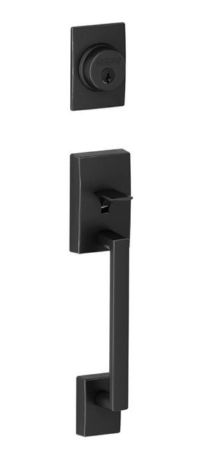 Schlage / Century Handleset / Single Cylinder / Matte Black / F60CEN 622