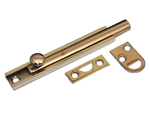 "Don Jo / 4"" Slide Bolt / Polished Brass / SB-4 605"