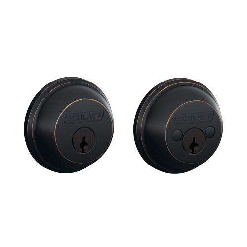 Schlage / B62 Deadbolt / Double Cylinder / Aged Bronze / B62 716