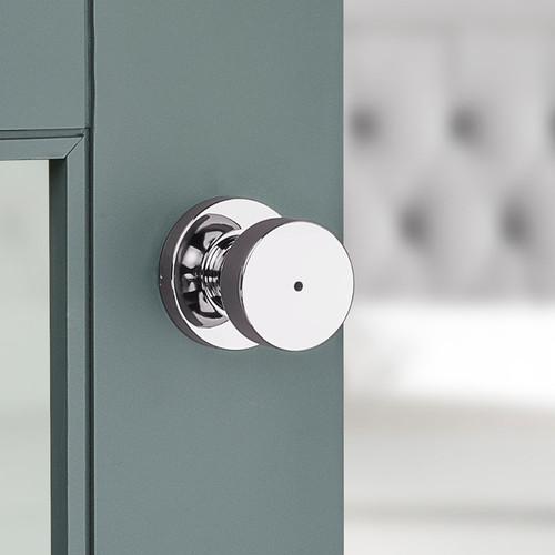 Kwikset 730PSKRDT Venetian Bronze Pismo Privacy Door Knob Set with Round Rose
